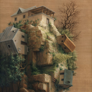 Living on the rocks-40x50cm-web